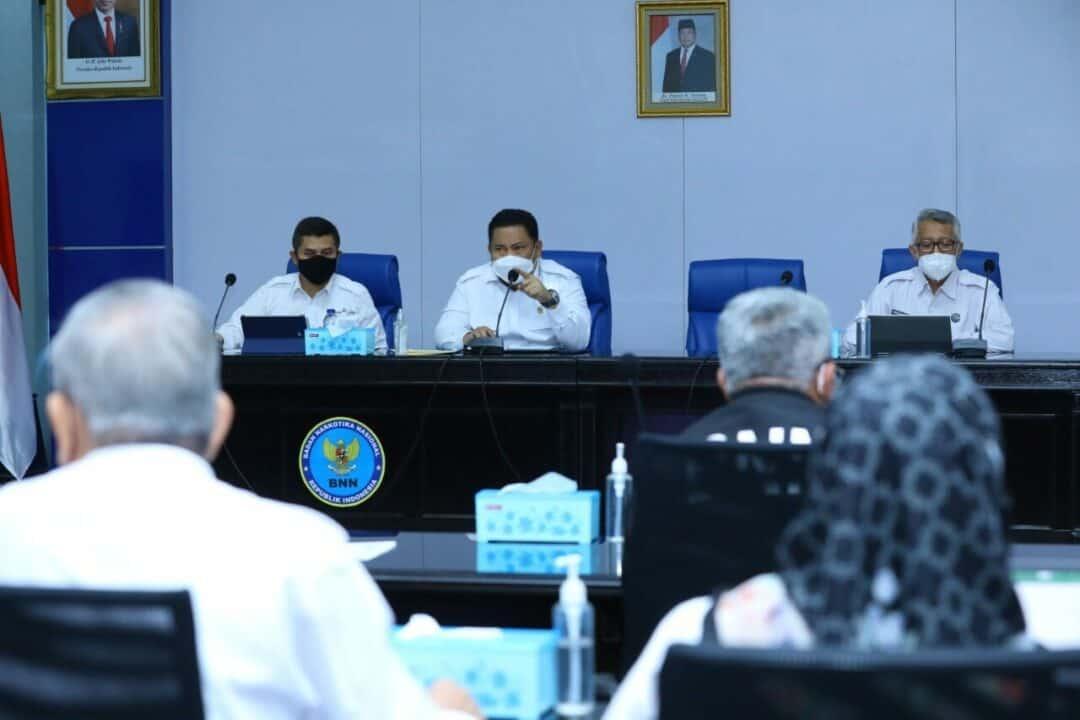 Kepala BNN RI Pimpin Rapat Evaluasi Kinerja Program Anggaran Triwulan I