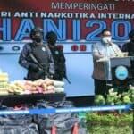 BNN Musnahkan Narkotika Dalam Puncak Peringatan HANI 2021