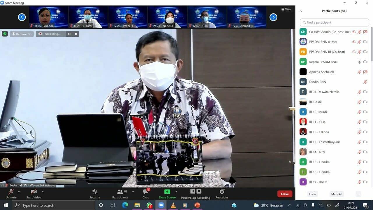 Sestama BNN RI Hadiri HAN 2021 Secara Virtual