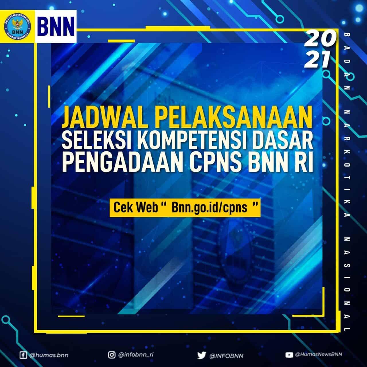 Pengumuman Jadwal Seleksi Kompetensi Dasar Pengadaan CPNS BNN T.A. 2021